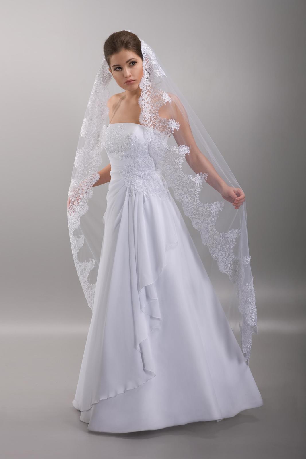 Španielsky svadobný závoj 170cm - Obrázok č. 1