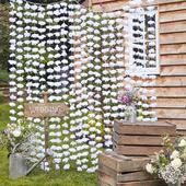 Kvetinové pozadie biele 2x1,8m,
