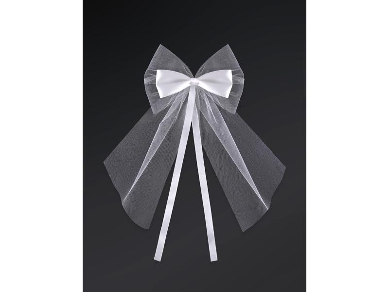 Mašle na klučky biele 2ks - Obrázok č. 1