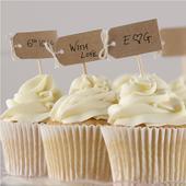 Zápichy na cupcakes/muffiny bez textu 12ks vintage,