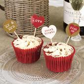 Zápichy na cupcakes/muffiny 20ks vintage,