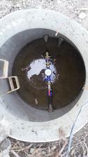 28.9.2016 - zapojenie stavebnej vody do pôvodnej vodomernej šachty