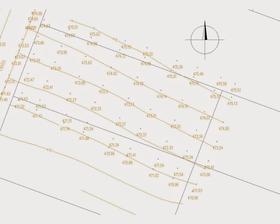 Pred projektovou prípravou sme nechali vypracovať výškopisné zameranie pozemku ako podklad pre projektanta kvôli osadeniu domu.