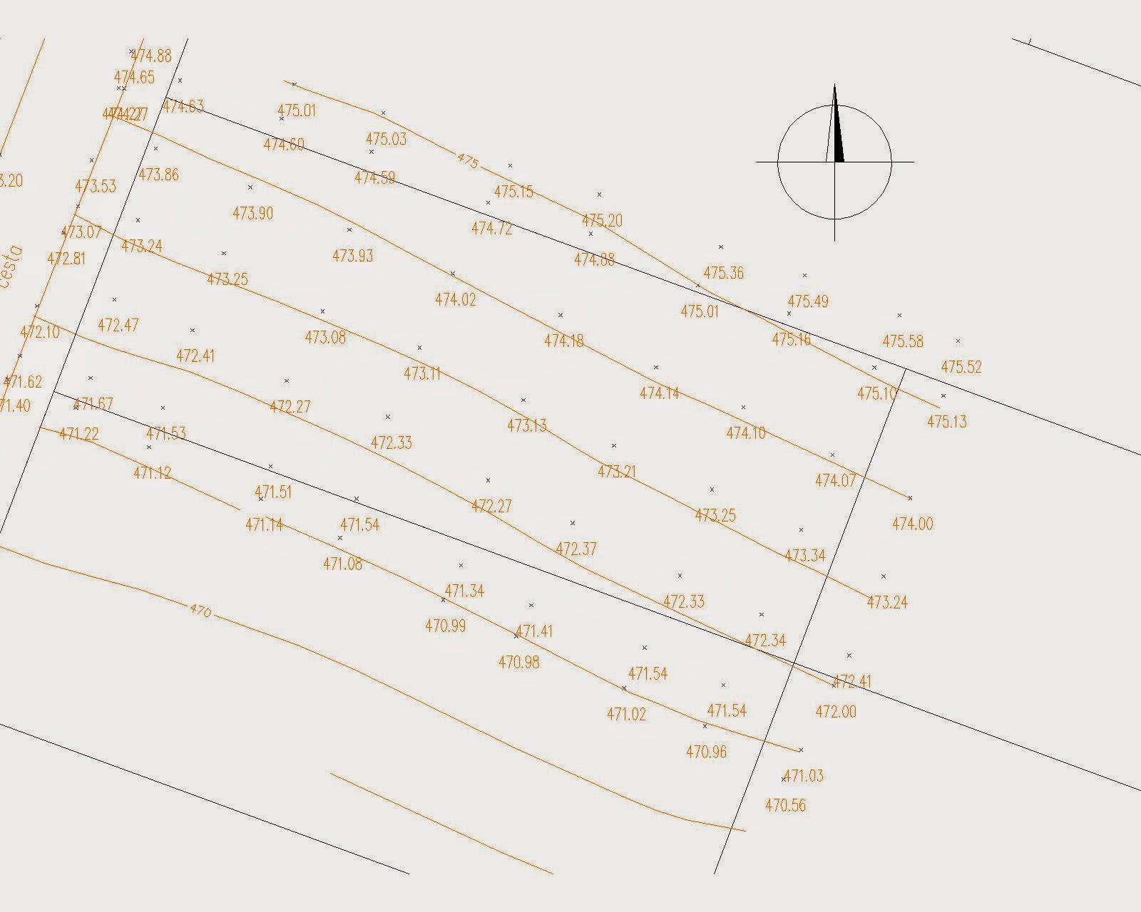 Raciodom - Pred projektovou prípravou sme nechali vypracovať výškopisné zameranie pozemku ako podklad pre projektanta kvôli osadeniu domu.