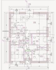 Kompaktný a jednoduchý pôdorys rodinného domu. Nosné sú iba obvodové múry. Krov bude väzníkový