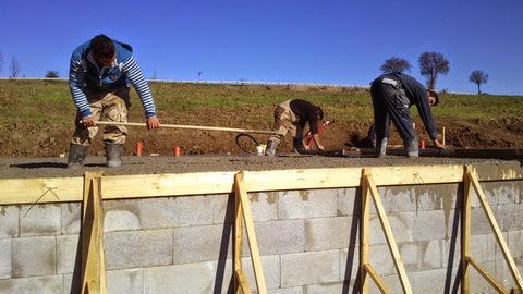 Raciodom - Betonáž podkladného betónu