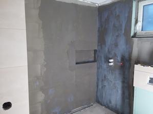 Sprchovací kút napenetrovaný.