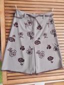 Elegantná sukňa so semišovou aplikáciou, 38