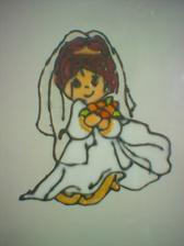 Šablona nevěsty - vlastní výroba.
