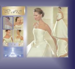 Mé svatební šaty na modelce.