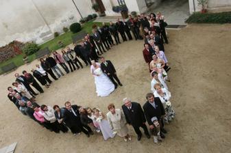 Naši svatební hosté a my