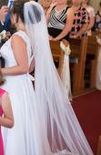 Svadobné šaty + kruh + dlhý a krátky závoj , 38