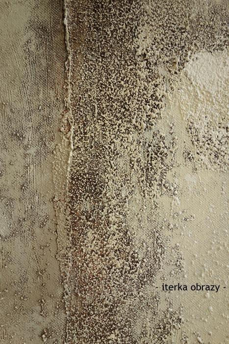 Obrazy k prodeji - přírodní neutrální tóny - - iterka obrazy - | detail struktury obrazu Cesta polopouští | 80 x 100 cm | 5600 Kč