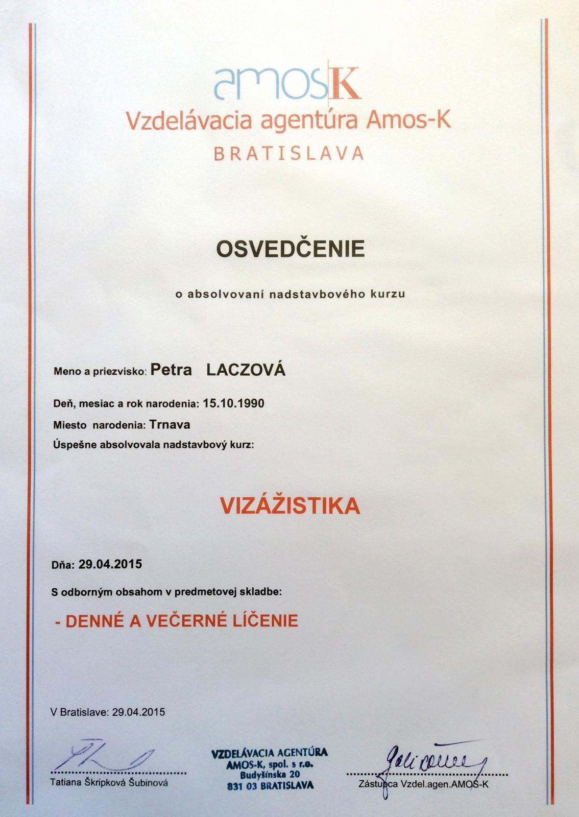 Certifikáty - 29.04.2015...Môj prvý kurz líčenia v Bratislave s tematikou na denné a večerné líčenie :-)