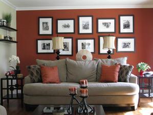 barevný důraz zdi, сhtěla bych takové barevné kombinaci
