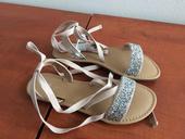 Luxusní šněrovací sandálky s kamínky, 36