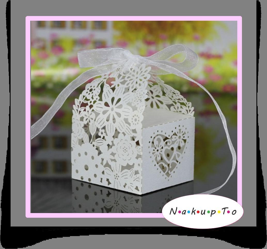 Vyrezávaná krabička so stuhou - Obrázok č. 1