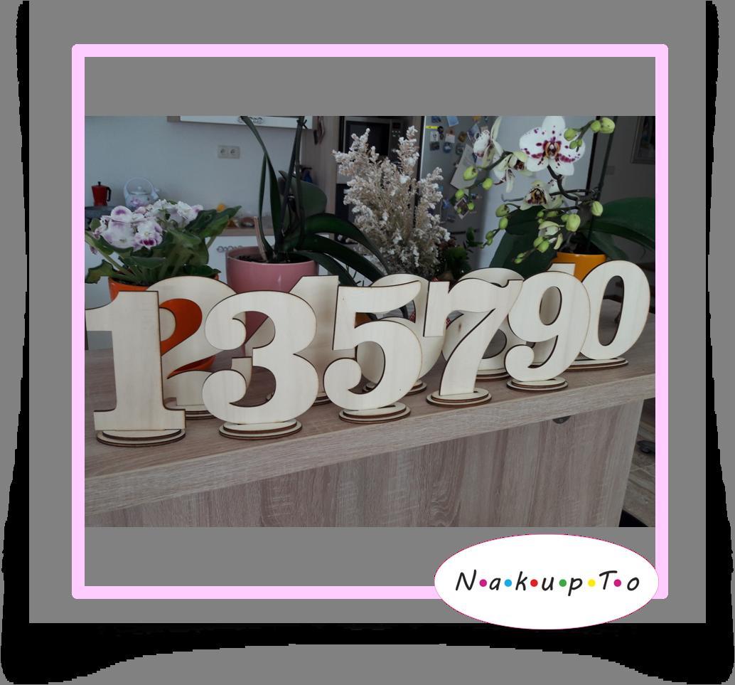 Svadobná číslovka na svadobné stoly - Obrázok č. 1