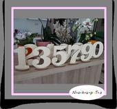 Svadobná číslovka na svadobné stoly,