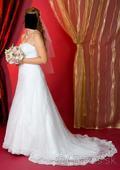 Svadobné šaty + darujem k nim závoj, 40