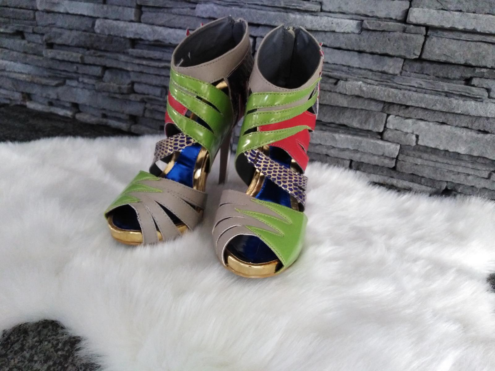 Farebné sandalky - Obrázok č. 3