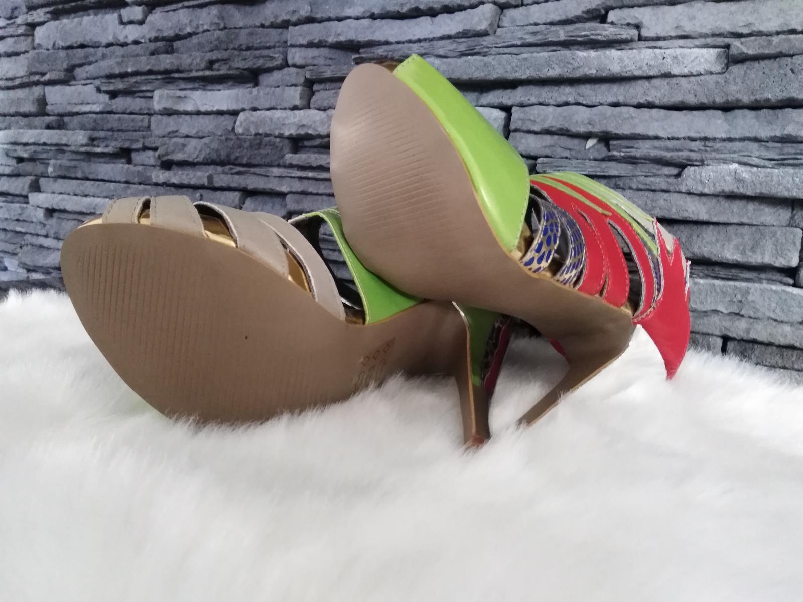Farebné sandalky - Obrázok č. 4