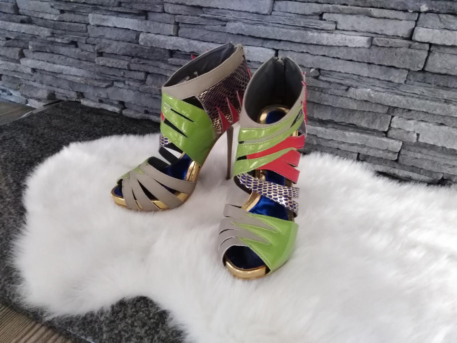 Farebné sandalky - Obrázok č. 1