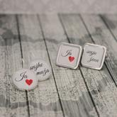 Set náušníc a manžetových gombíkov pre novomanželov