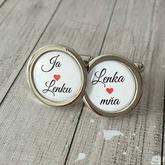 Manžetové gombíky s romantickým textom