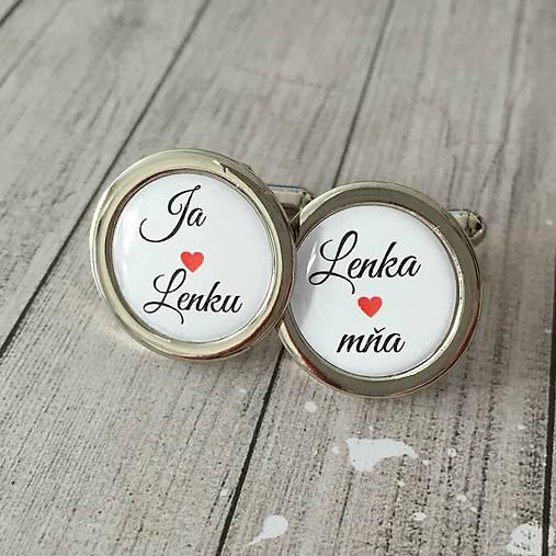 simka_manzetkova - Manžetové gombíky s romantickým textom