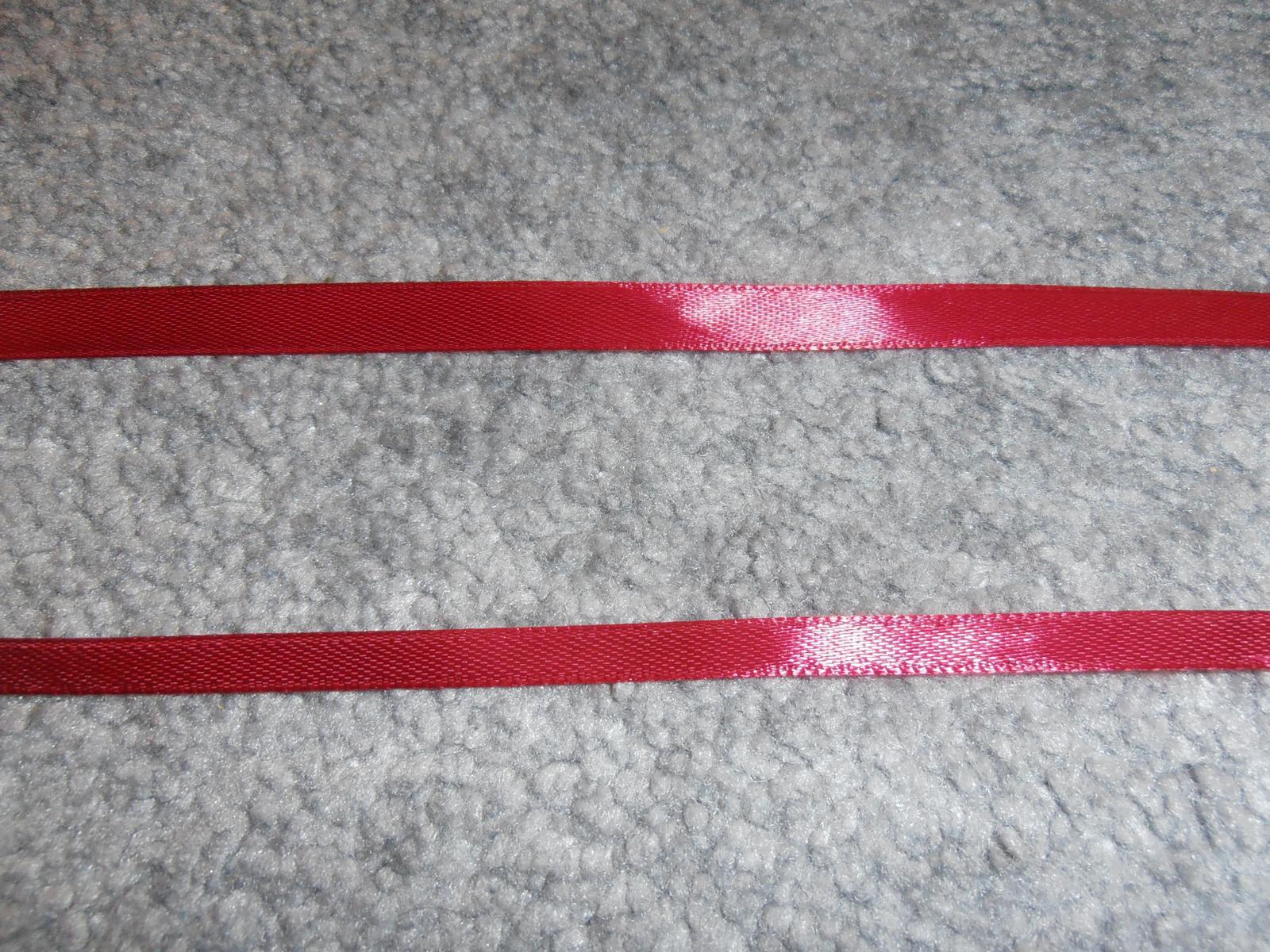 Stuha, šírka 6mm, bordová  - Obrázok č. 1
