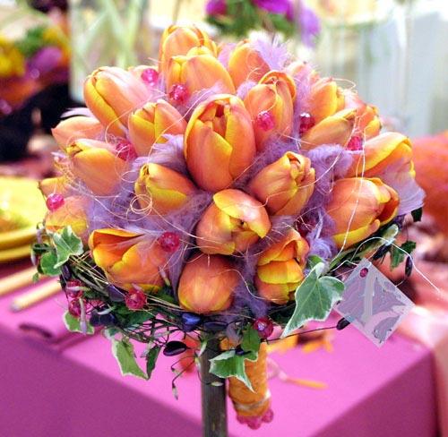 Moja fialova svadba - Rozhodla som sa pre tulipánky