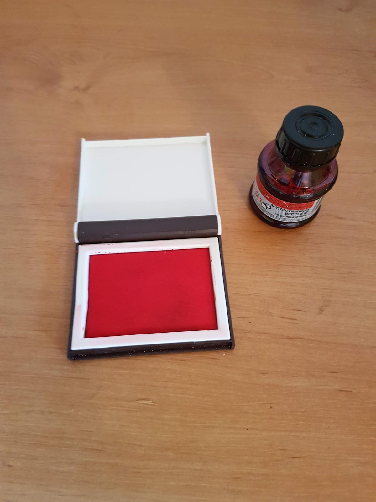 razítková barva s polštářkem  - Obrázek č. 1