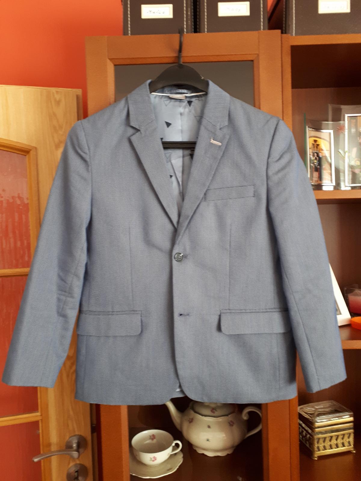 Modré chlapecké sako - Obrázek č. 1