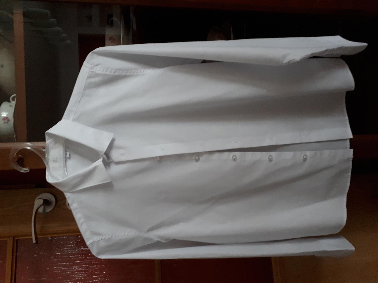 Bílá chlapecká košile velikost 158 - Obrázek č. 1