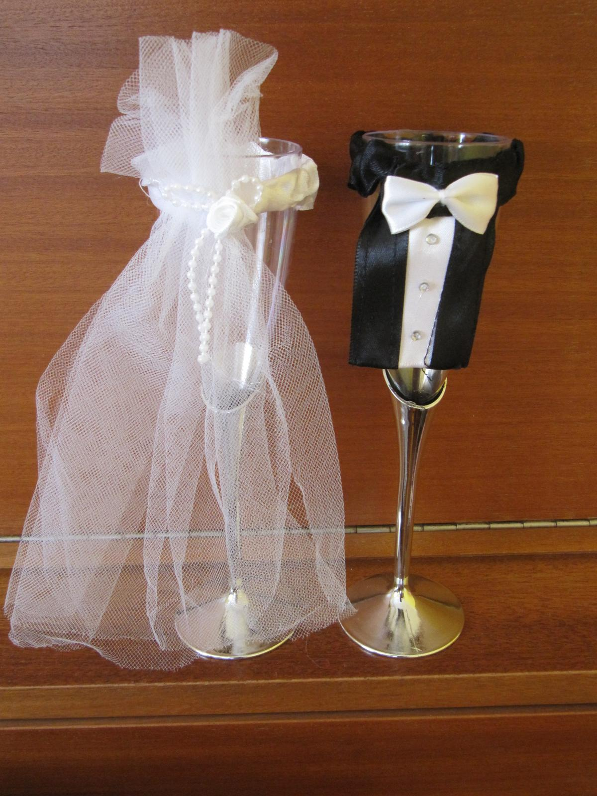 Skleničky pro ženicha a nevěstu - Obrázek č. 1