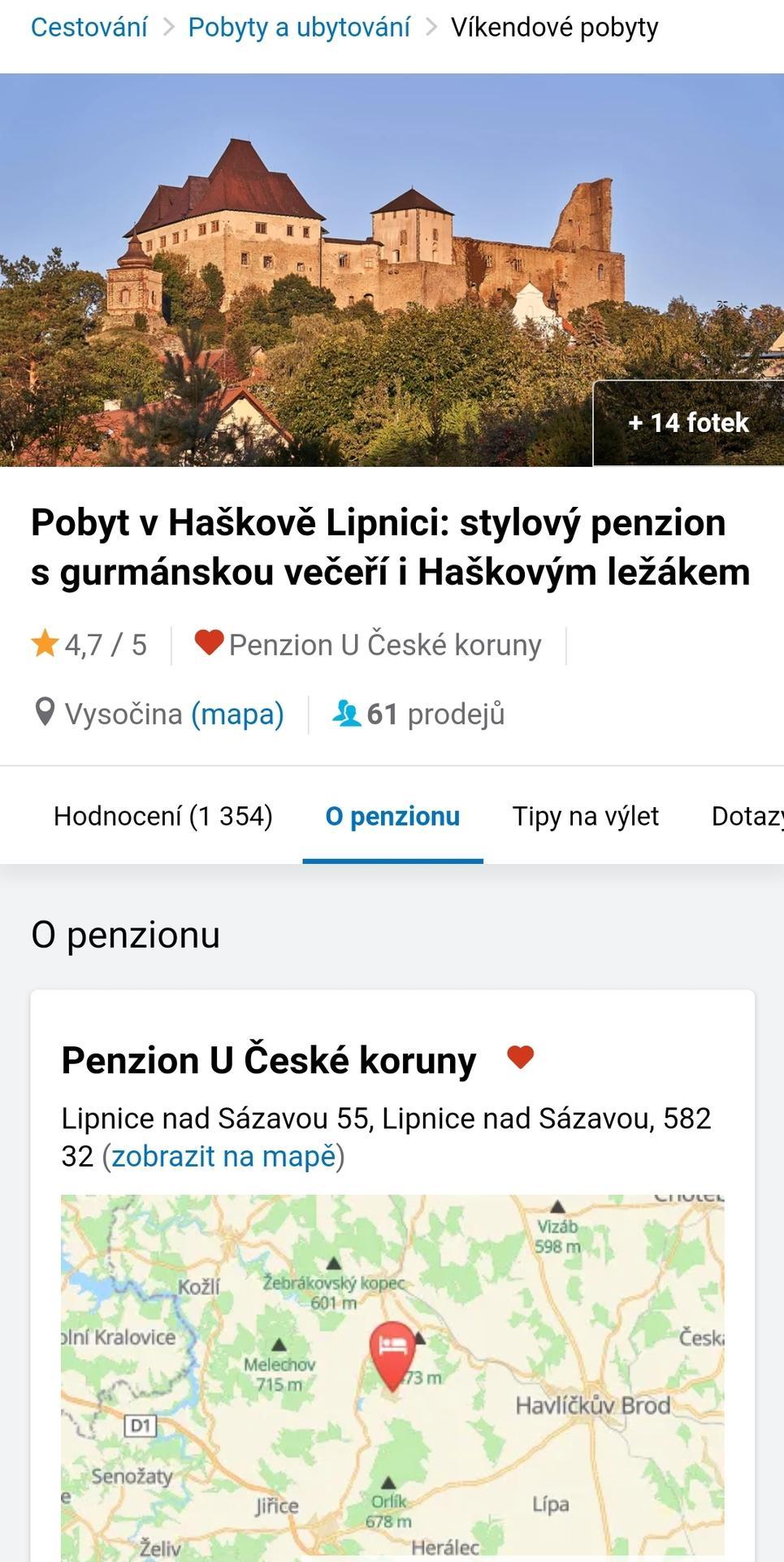 Nabízím pobyt v Lipnici... - Obrázek č. 2