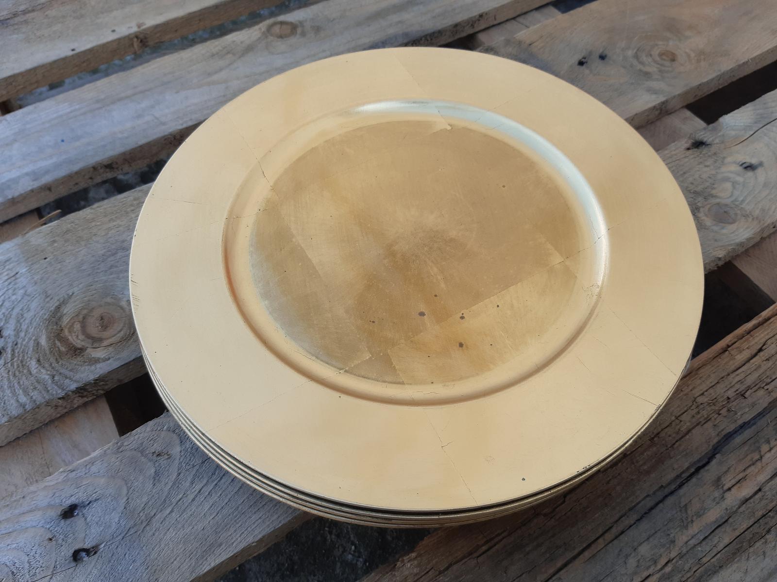 Zlaté dekoračné taniere - Obrázok č. 1