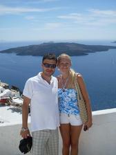 svadobná cesta Santorini