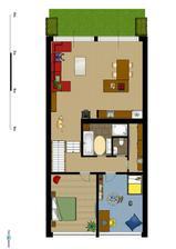 První patro (4.řešení obýváku a kuchyně)