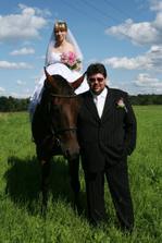 s novomanželem na focení den po svatbě