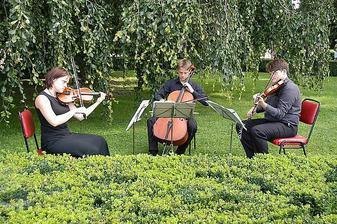 před, při a po obřadu nám bude hrát smyččové trio
