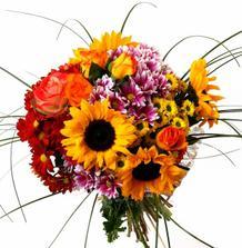 Miluju slunečnice - a zřejmě by šly nakombinovat i do svatební kytice :o)