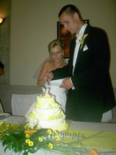 Krájení dortíku:-)