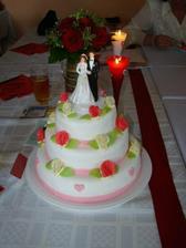 náš hlavní svatební dortík