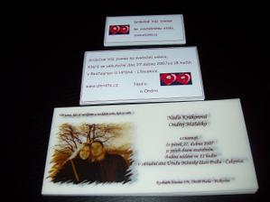 objedn. 21.2, hotové 1.3.2007, pozvánky vlastní výroba