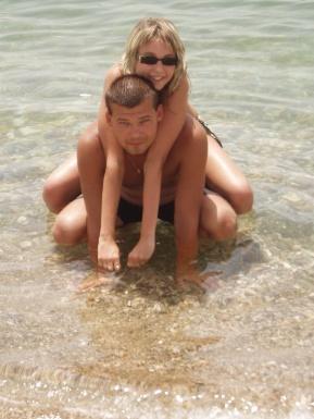 Mili a Radko - Tak to sme my snúbenci...:-)) (prvá naša spoločná dovolenka pri mori (jún 2007 - Grécko)
