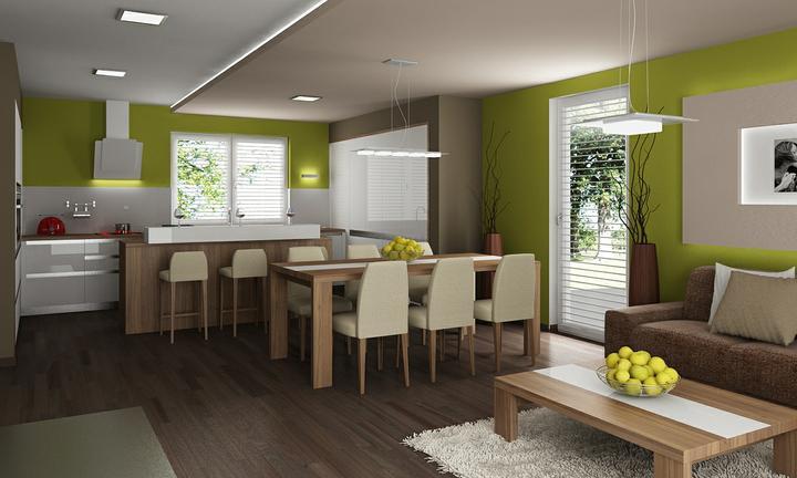 Obývací pokoj s kuchyní a jídelnou - Obrázek č. 33