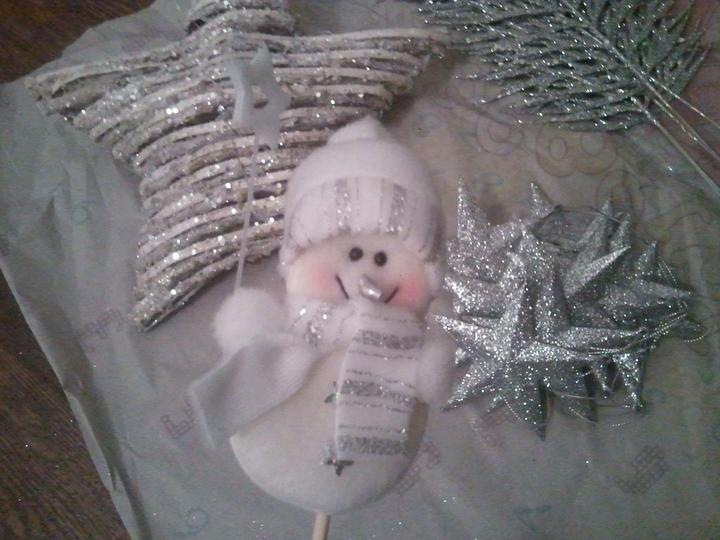 Handmade & vánoce - sněhuláčka skamarádím s orchidejí :-)