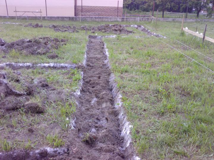 Ako sa stavia sen :D - 19.6.2010 odstránenie drnov a príprava na ručné kopanie